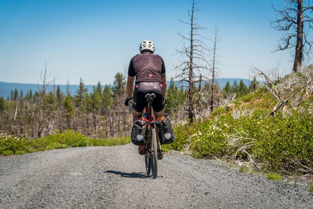 Gravel / Road Biker with OMM Rack
