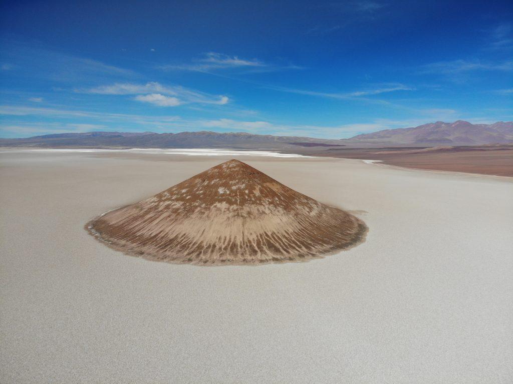 Cono De Arita - A surreal pyramid in the Salar de Arizaro (Puna de Atacama, Argentina)