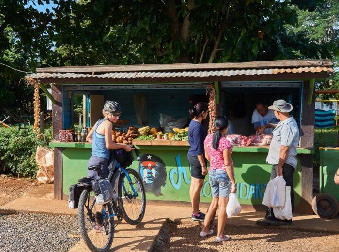 Revelate Designs Nano Panniers on a bike in Cuba