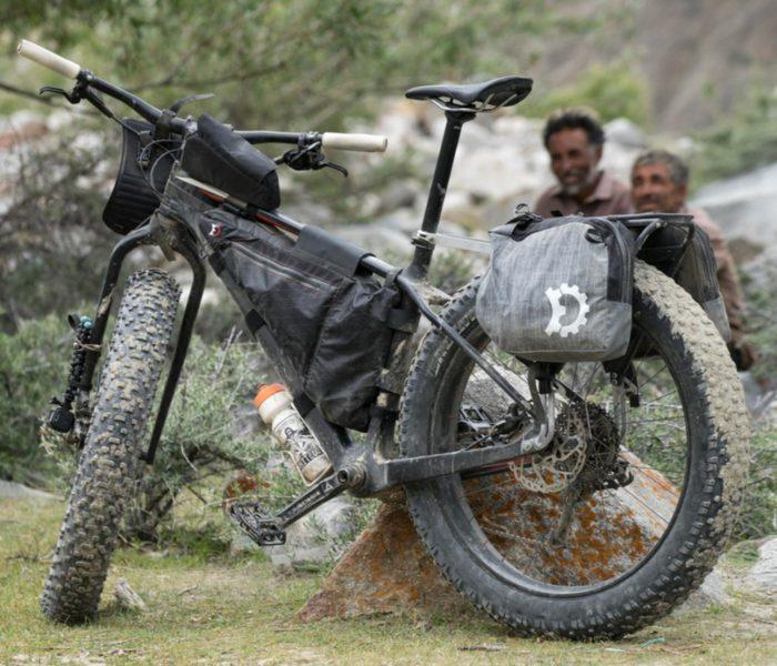 Revelate Designs Nano Panniers on a bike