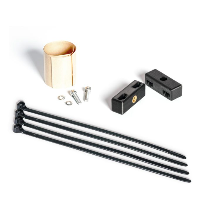 Fit Kit small parts for mounting a bike rack on a road fork
