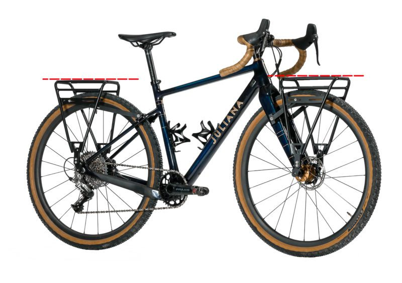 Juliana Gravel Bike With Front and Rear Racks