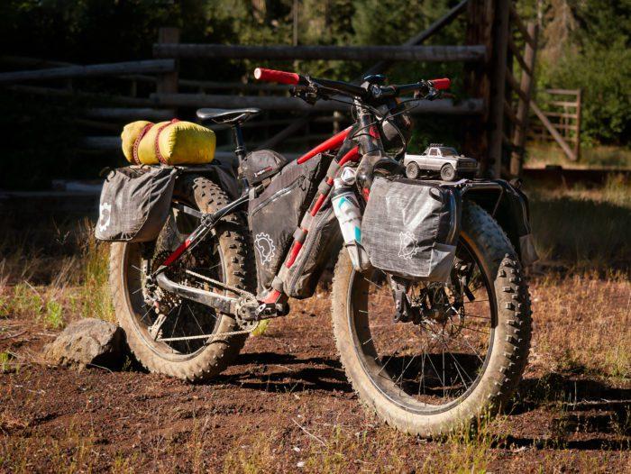 Old Man Mountain racks mounted on a fat bike