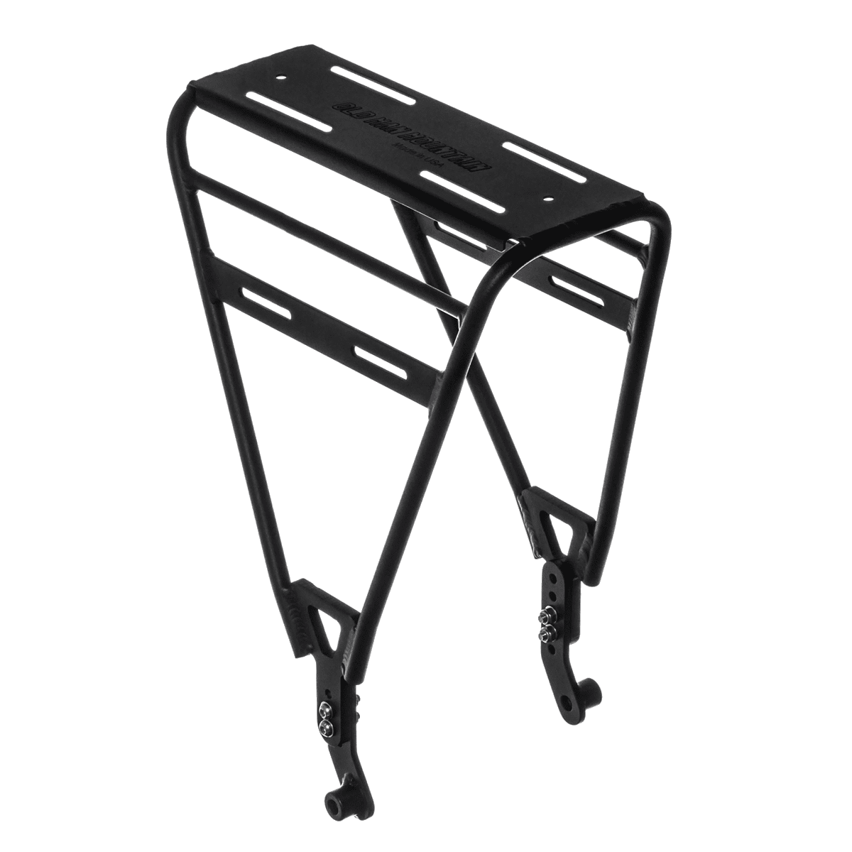 Divide Fat cargo bike rack to carry panniers and cargo on any thru axle bike