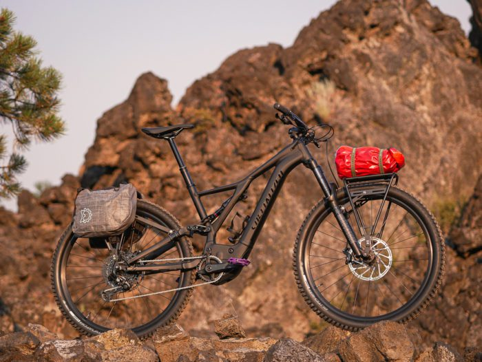 Front and Rear cargo rack on an emtb