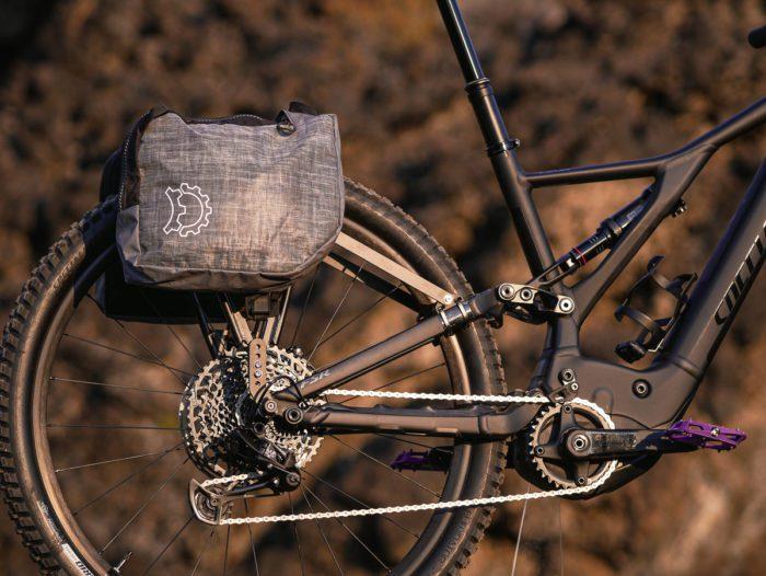 Pannier rack on a full suspension bike