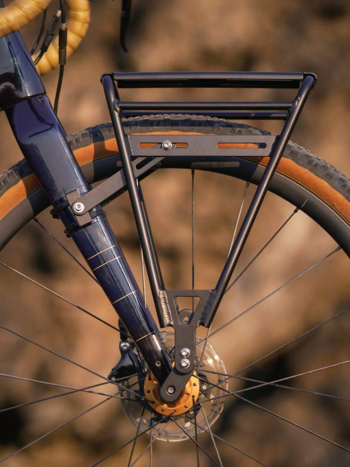 Bike rack on a gravel bike