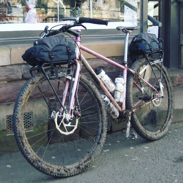 Was this set up ahead of it's time in 2009 or are current build trends coming back around? Either way we love @drj0n_bagworks @indyfabulous build.  • Before I headed down the rabbit hole of kit minimising! April, 2009. Bikepacking around the Cairngorm, with @oldmanmountainracks and Epic Designs / @revelatedesigns 'Trunk Turtle' rack top bags that cinched down some bomber dry bags Eric also made. There has been a resurgence of rack based systems and for good reason. It's super solid and super fast if you need a slightly less minimal/winter load. I ought to dig these out again.... #bikepacking #bikepackingbags #bikepackinggear